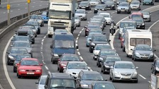 Vehicles stuck in traffic on the M5 near Bristol.
