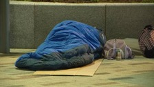 Ex homeless man sleeps out to thank charity for their support