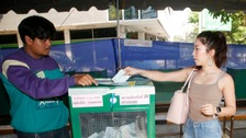 Voting ends in Thailand's first election since military coup