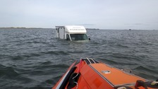Campervan pair rescued at Holy Island causeway