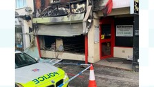 Forty firefighters tackle blaze at Surrey newsagents