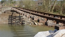 Flood damaged railway could be closed for months