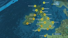 Cold start for many and brighter spells later on