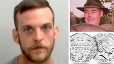 Danny Bostock (left) has been jailed for life for murdering coin collector Gordon McGhee in Colchester, Essex.