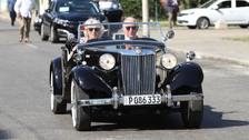 Charles and Camilla hit the road in vintage MG during Cuba visit
