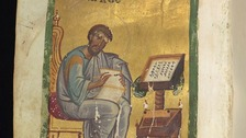 Saint Mark from a Greek New Testament manuscript at Cambridge University Library
