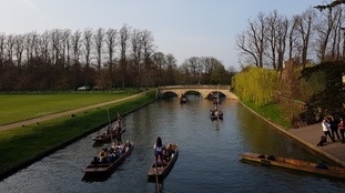Perfect weather for punting in Cambridge on 30 March 2019.