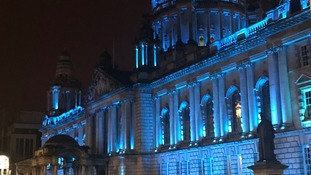 Belfast City Hall turns teal to honour the Belfast Giants
