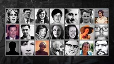 The 21 victims who were killed by the IRA.