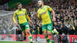 Teemu Pukki scored twice against QPR at Carrow Road.
