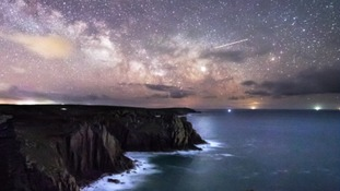 The Milky Way captured over Lands' End by photography teacher Aaron Jenkin.