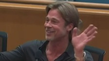 Brad Pitt realises he's out of time.