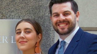 Upskirting victim Gina Martin, 26, with her lawyer Ryan Whelan.
