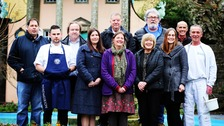 The staff of Portmeirion Village
