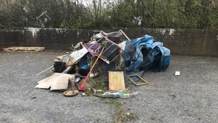 Whole swimming pool dumped by fly-tippers on Devon industrial estate