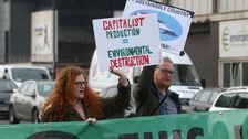Climate change protesters in Nottingham today