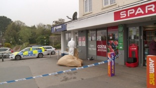 The Spar shop has been cordoned off by police.