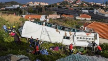 29 dead in Madeira as tour bus crashes into house
