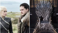 Hundreds queue as GoT's Iron Throne comes to Cardiff