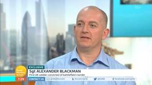 Sgt Alexander Blackman on Good Morning Britain.