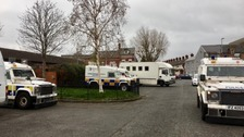 Searches were carried out by police investigating the East Belfast UVF