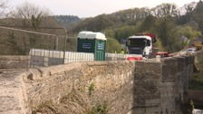 Bridge on the Devon and Cornwall border due to reopen after being hit by a car