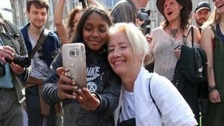 Emma Thompson rallies climate activists at Oxford Circus