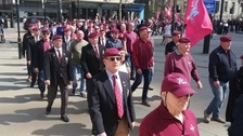 Veterans gather in Manchester to protest Bloody Sunday prosecution