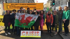 Welsh activists join Extinction Rebellion protests in London