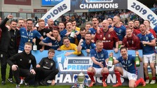 Champions Linfield beaten on trophy presentation day