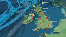Sunny Easter Sunday could set record temperature