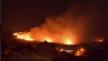 100 Firefighters tackle huge blaze on Ilkley Moor