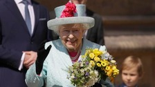 Happy Birthday sung to Queen after Windsor service