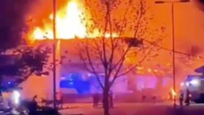 Large fire in former Toys R Us store in Peterborough