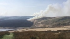 North East fire crews dispatched to help tackle Marsden Moor fire