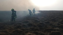 Emergency services tackle 12 moorland fires on Dartmoor