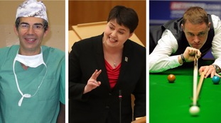 Doctor David Nott, Ruth Davidson and Stephen Hendry