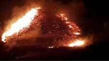 50 firefighters tackle another moorland fire in Oldham