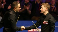 Amateur snooker player's shock at beating 'idol'