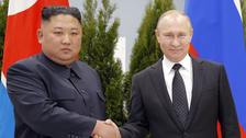 The leaders shook hands on meeting in Vladivostok on Thursday