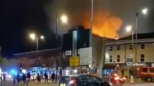 Investigations into large fire at former nightclub in Birkenhead