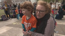 Parents march against school tests for four-year-olds