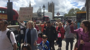 Parents and children heading to Downing Street