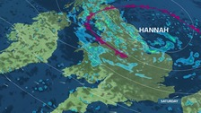 Strong winds from Storm Hannah are likely to affect the Anglia region on Saturday.