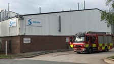 Emergency services attend 'chemical incident' on Wrexham Industrial Estate