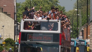 Luton Town celebrated their promotion to League One last season with a similar event.