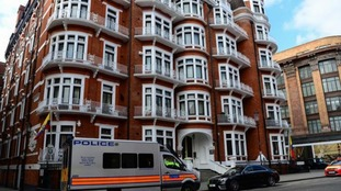 Assange had been holed up in the Ecuadorian embassy in London for nearly seven years.