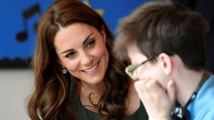 The Duchess of Cambridge during a visit to the Anna Freud Centre in London where she opened their new building.