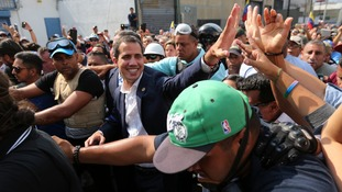 Mr Guaido wants to oust the president and hold fresh elections.