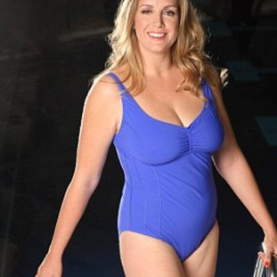 Penny Mordaunt stripped for ITV show Splash! in 2014.